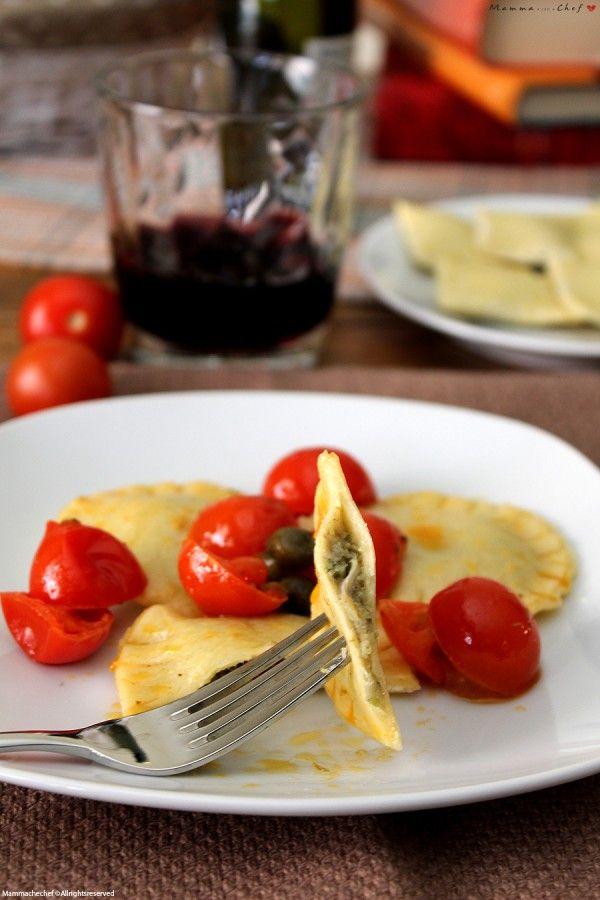 Ravioli con crema di carciofi e zucchine - Mammachechef ...