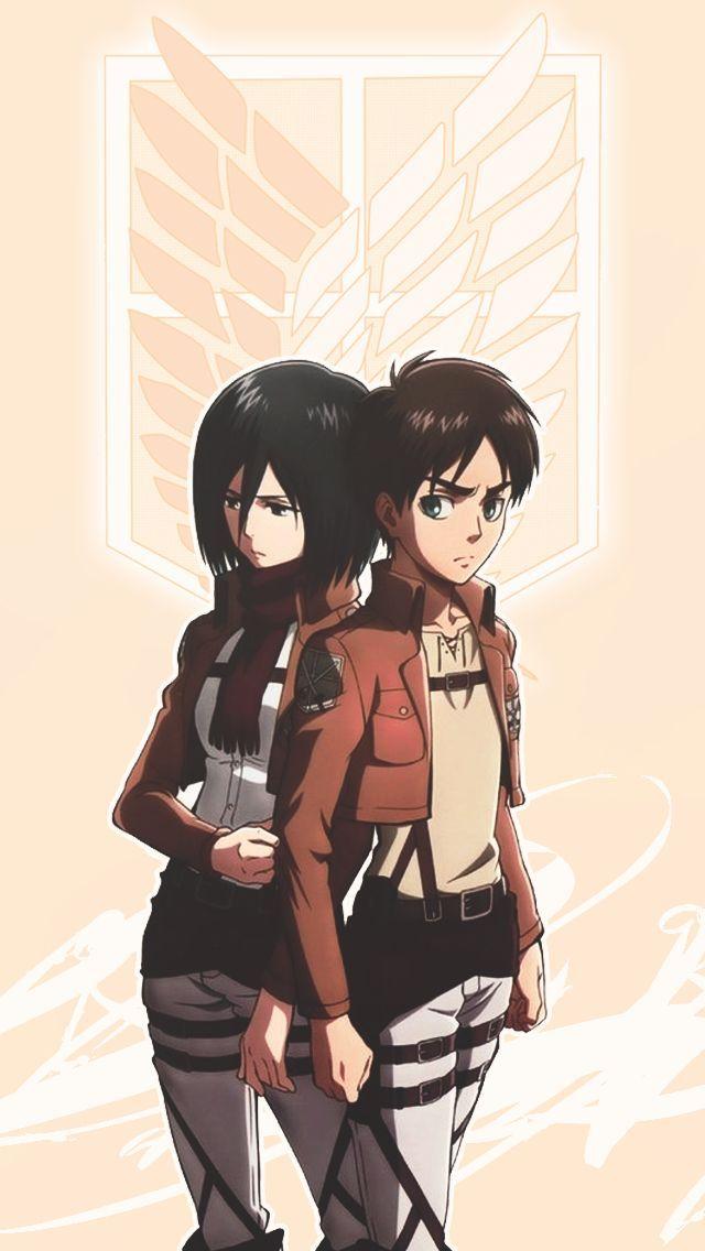 Mikasa Eren Attack On Titan Anime Attack On Titan Aesthetic Eren And Mikasa