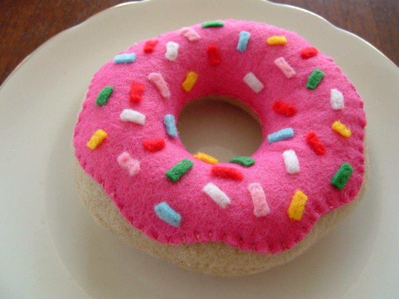 Free Tutorial For Felt Food Doughnuts