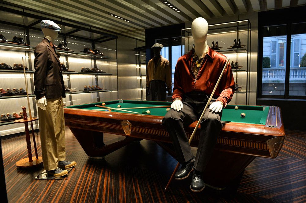 """PRADA,Milan Italy,""""can you get your ass of the table Riccardo so I can play..........thank you"""", pinned by Ton van der Veer"""