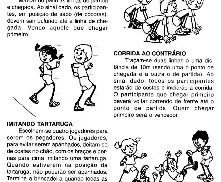 Jogos E Brincadeiras Divertidas Para Imprimir Brincadeiras