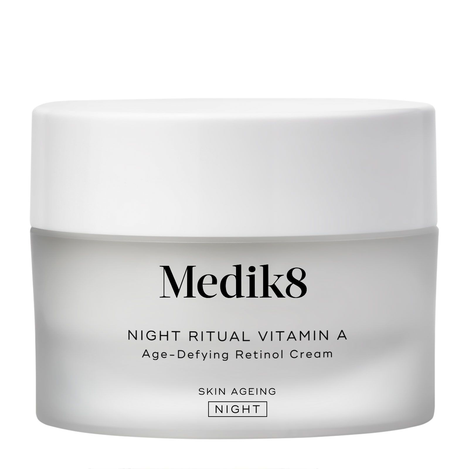 Discover Medik8 Night Ritual Vitamin A Cream, a rich, rejuvenating vitamin A cream that delivers powerful anti-ageing complex deep into the skin. Working at night, it nourishes to leave skin hydrated and visibly more youthful. The most effective ingredient in anti-ageing, vitamin A, improves skin texture, minimising the appearance of fine lines and wrinkles whilst balancing uneven skin tone. This nourishing cream uses advanced Time Release Technology to deliver vitamin A into the skin gradually