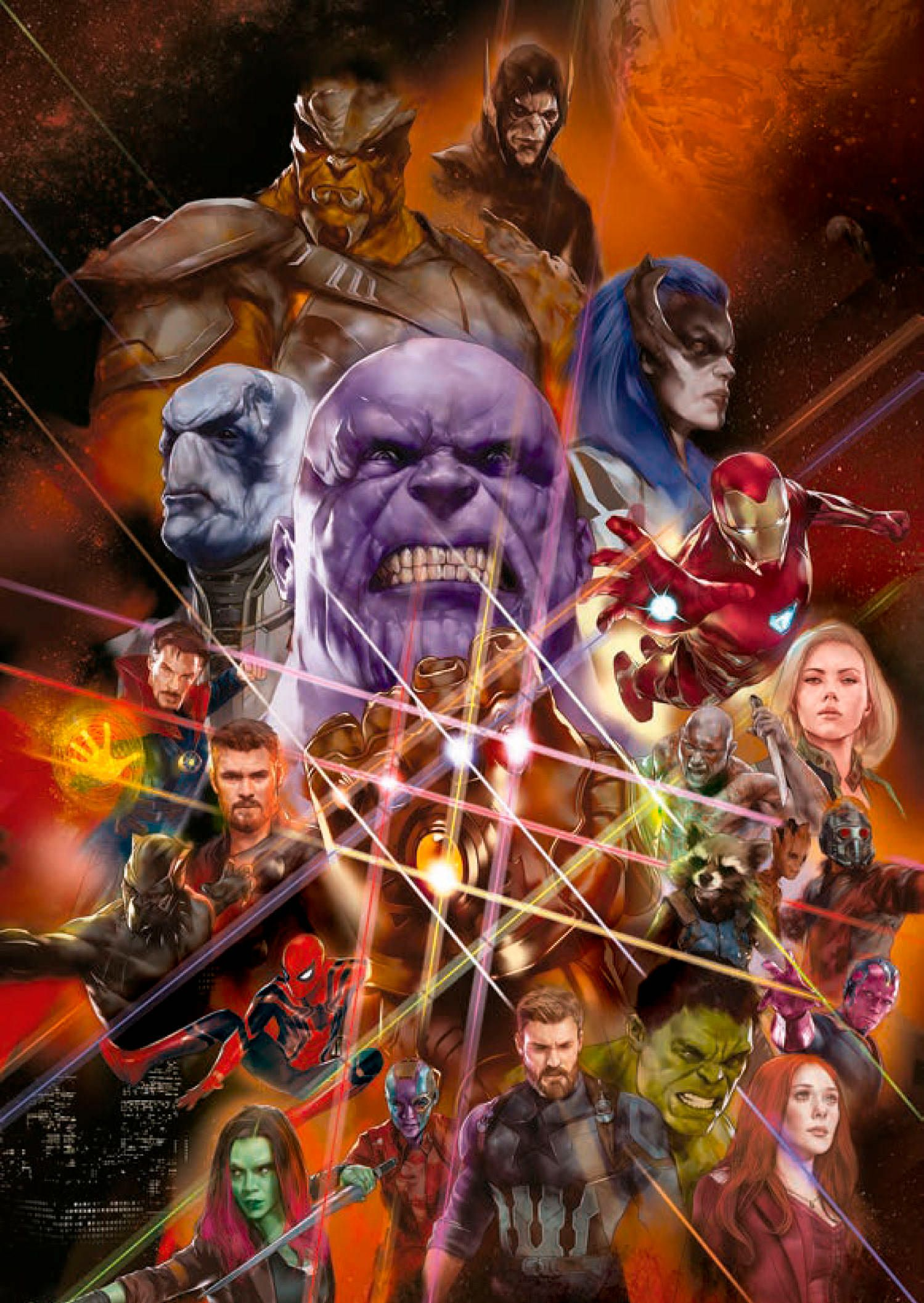 promo art poster for 'avengers: infinity war' inspired by the