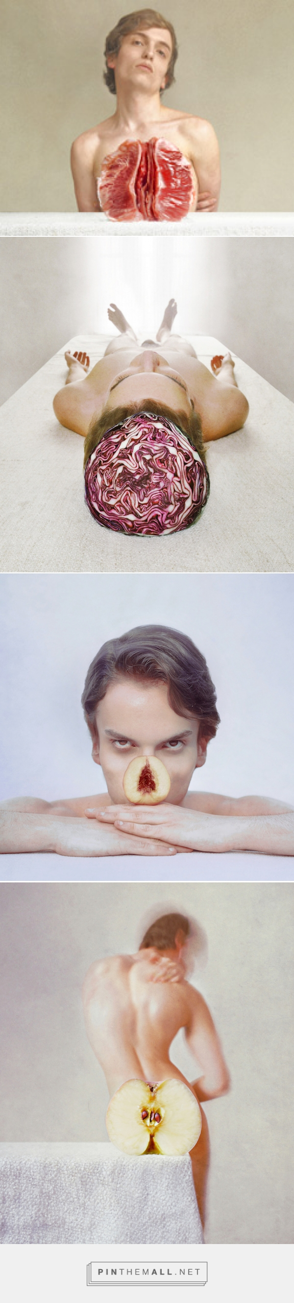marwane pallas uses forced perspective to parallel human body parts and food - created via http://pinthemall.net