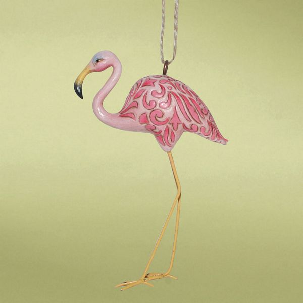 Pink Flamingo Heartwood Creek Ornament - 4014458