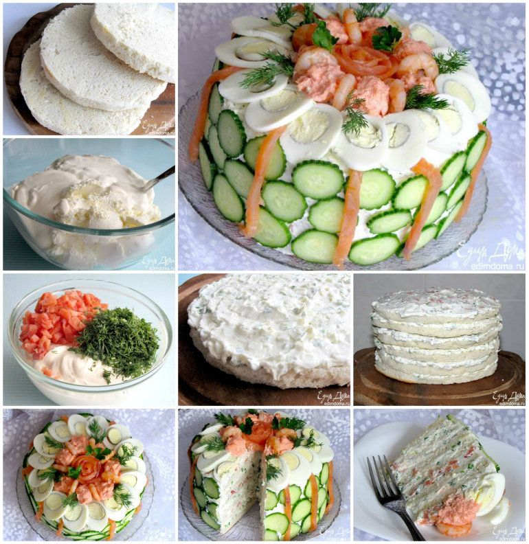 Smörgåstårta Scandinavian Sandwich Cake Recipe   Sandwich-kuchen ...