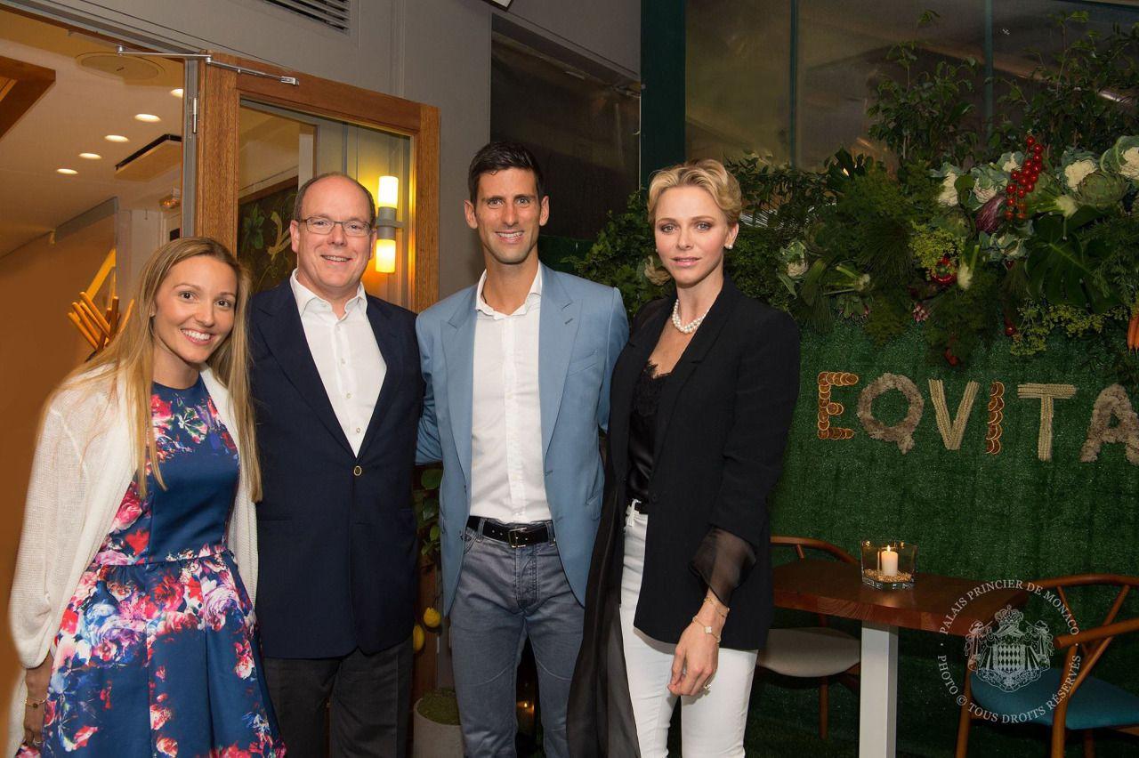 Prince Albert And Princess Charlene Of Monaco Had Dinner With Tennis Player Novak Djokovic And His Wife At Djoko With Images Princess Charlene Prince Albert Princess Grace
