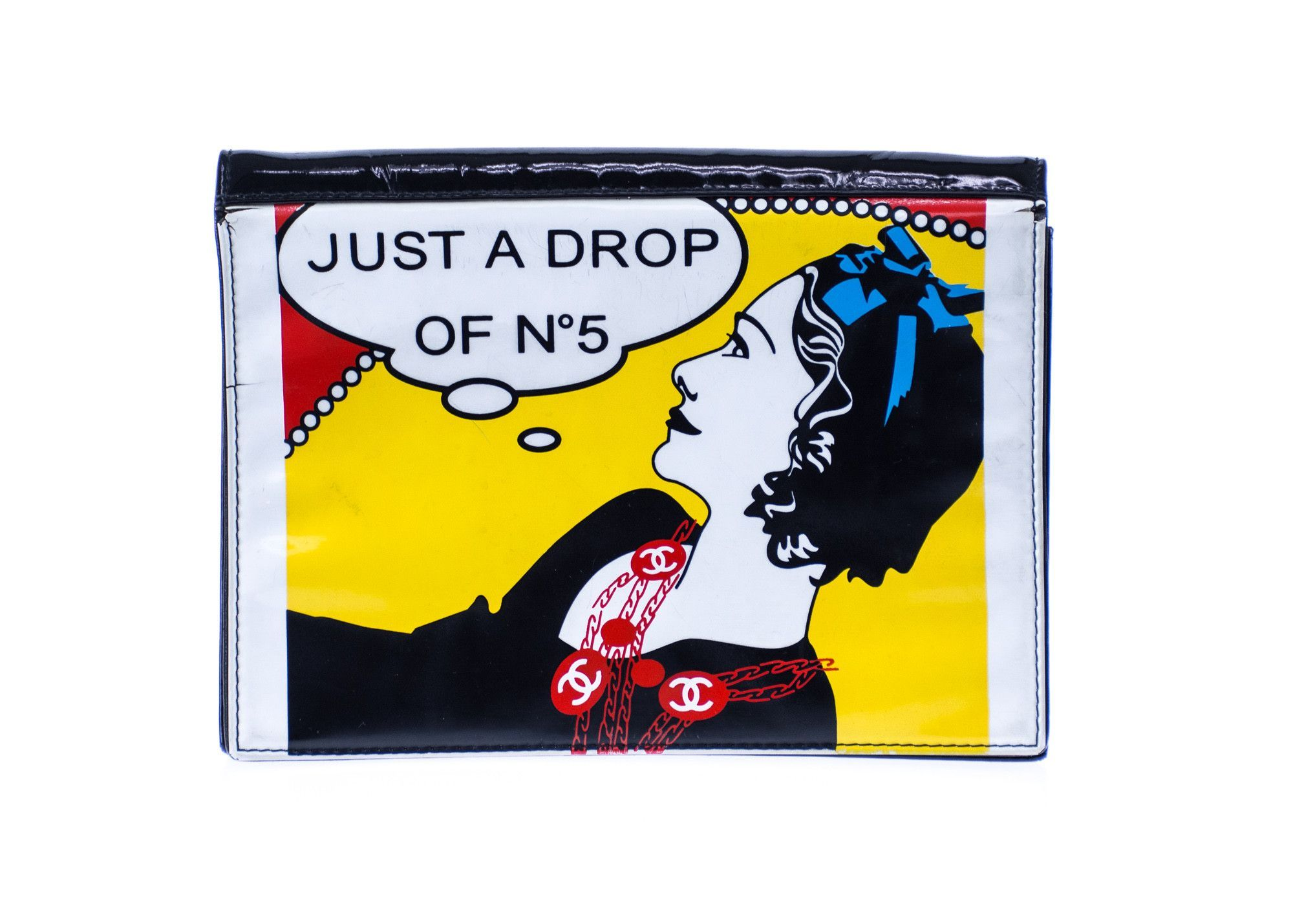 576e85f9b0f998 Chanel Just A Drop of No.5 Comic Clutch | Products | Pinterest ...