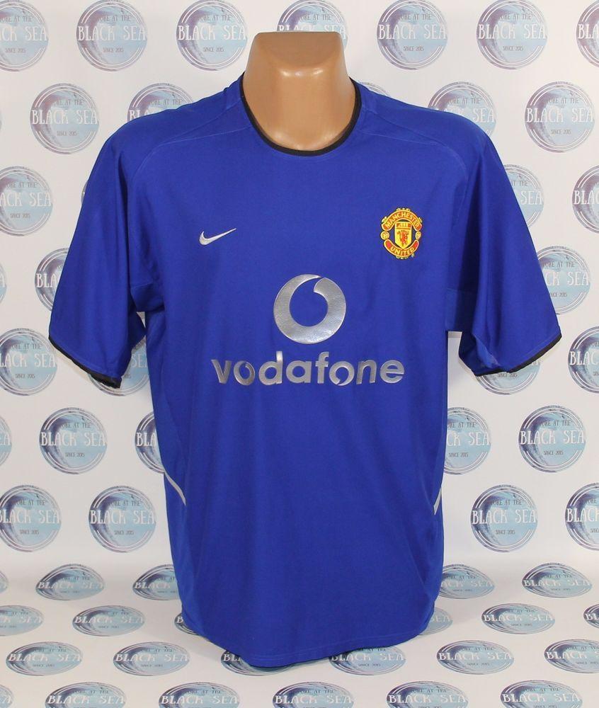 fe1d2489ce3 MANCHESTER UNITED 2002 2003 THIRD FOOTBALL SOCCER SHIRT JERSEY TRIKOT NIKE  BLUE  Nike  ManchesterUnited