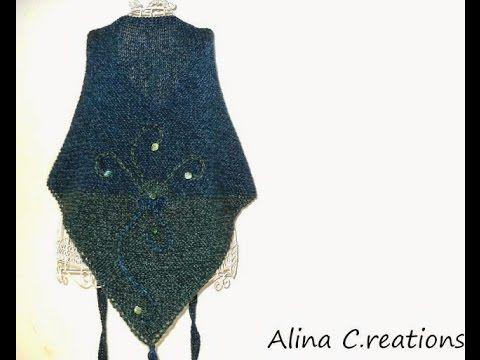 eccezionale gamma di stili e colori scarpe esclusive Prezzo di fabbrica 2019 395) lilla's tutorials: scialle ai ferri con occhielli ...