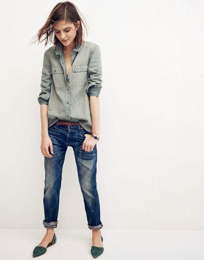 """""""Rien de tel qu'une paire de souliers pointus pour rehausser une tenue casual ! (Madewell)"""" -tendances de mode"""