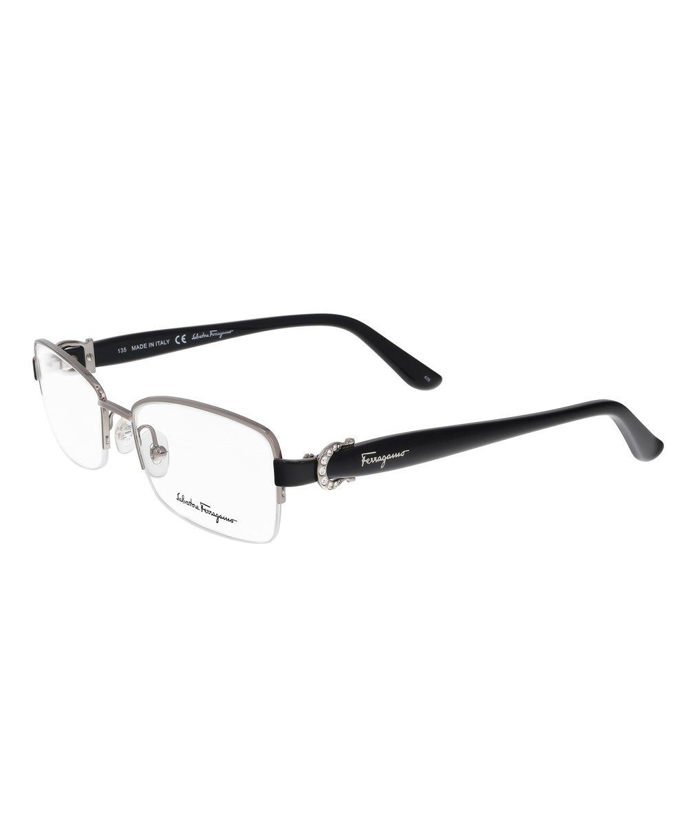 Sf2113/R 081 Light Gunmetal Rectangle Optical Frames\', Silver ...