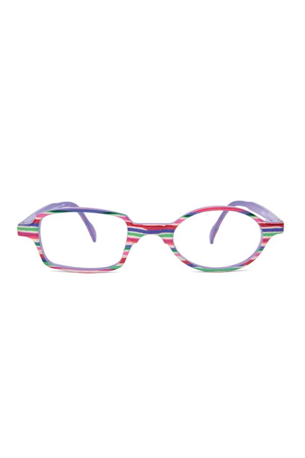 6281654bf5a175 Lunettes de lecture Toukan strié rose et violet acier Read Loop   allyoureadislove  eyewear