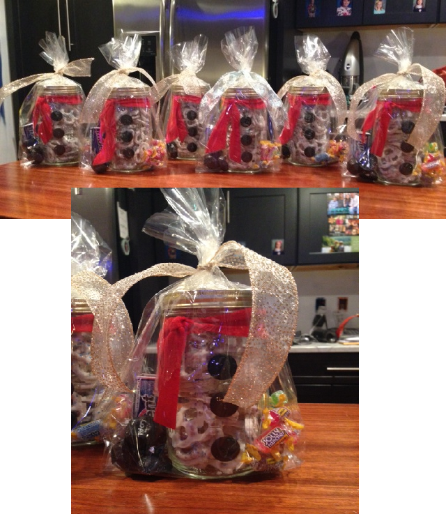 Senior Christmas Party Ideas Part - 19: Snowmen Goody Jars For Grade Senior Buddies.