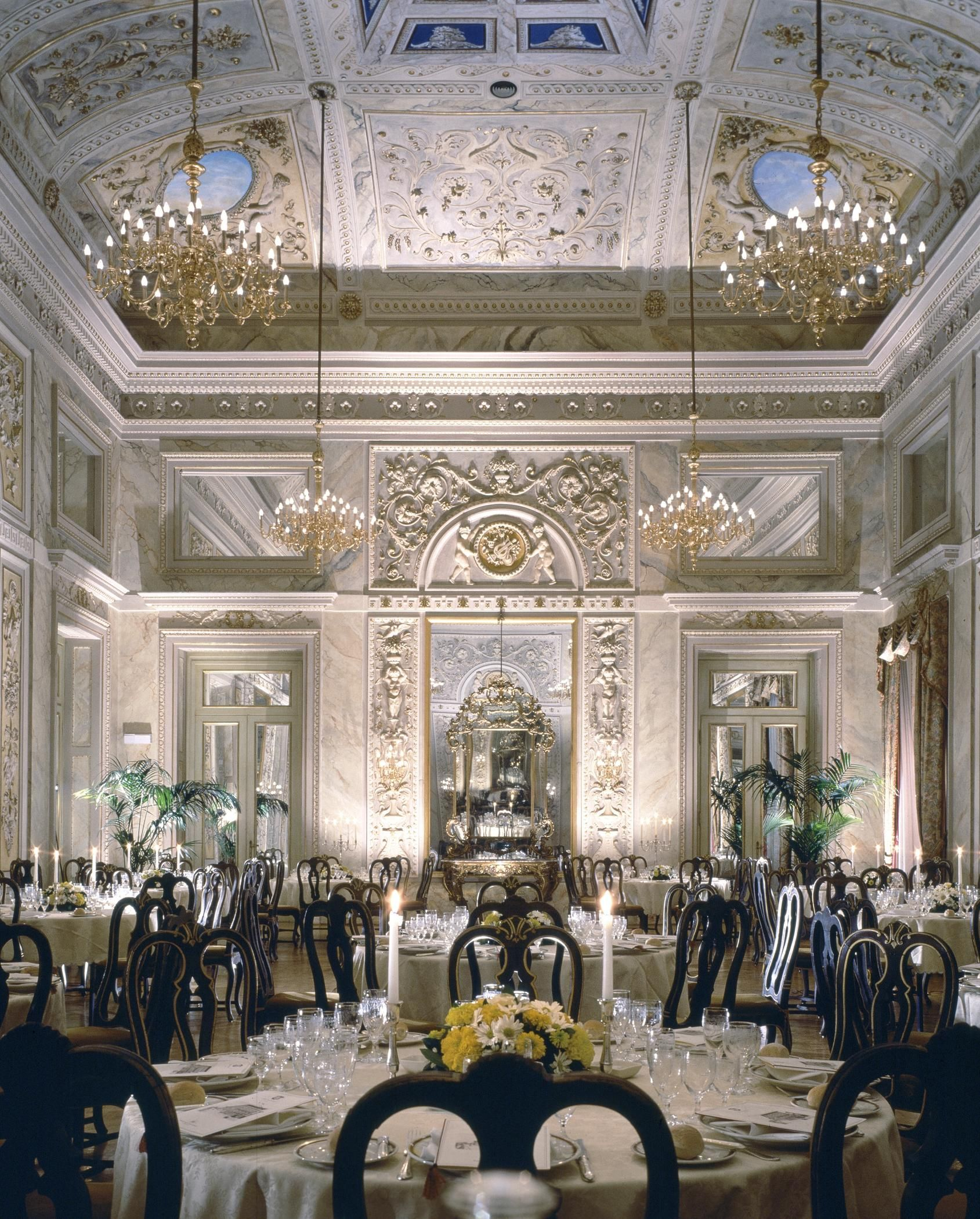 Wedding decorations luxury  St Regis Hotel Florence Italy  WedLuxe Magazine  wedding