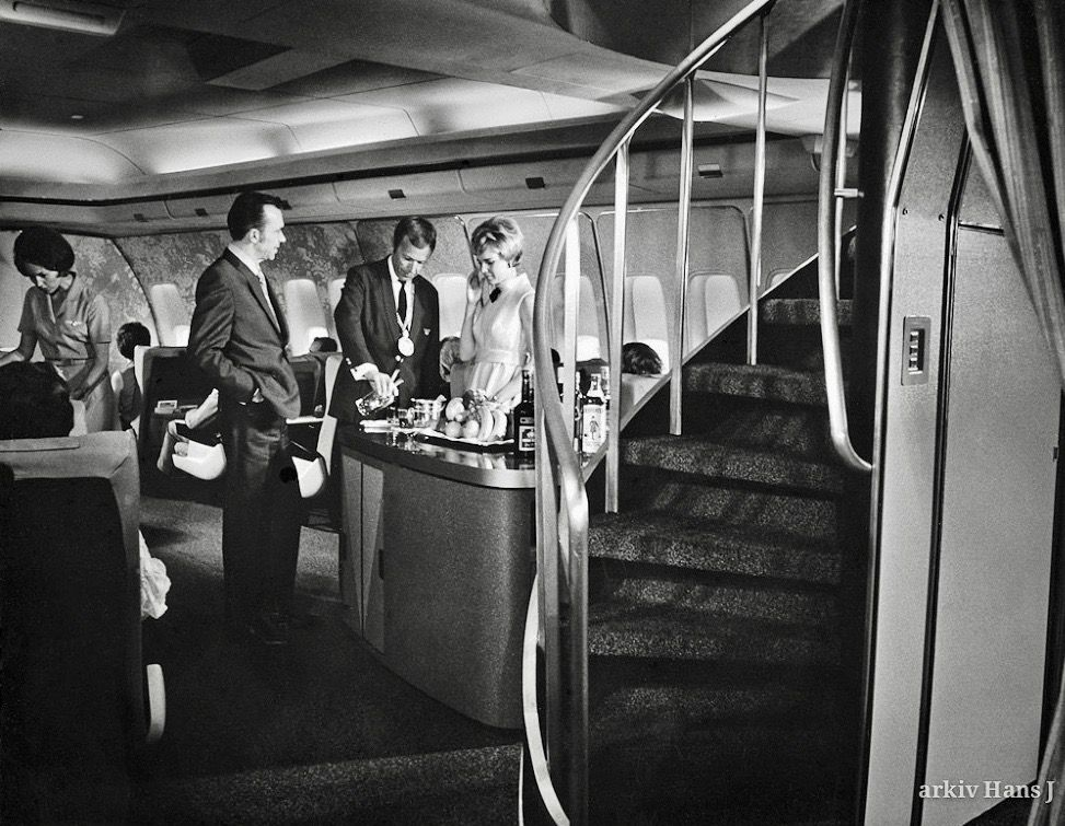 Sas 747 First Class Cabin Boeing 747 Boeing Vintage Airlines