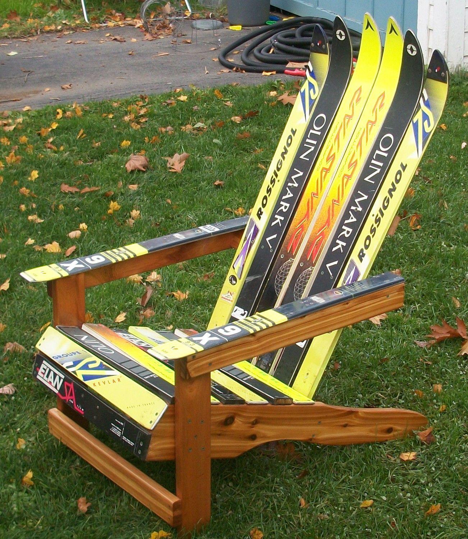 Adirondack Ski Chair Ski lodge decor, Ski decor