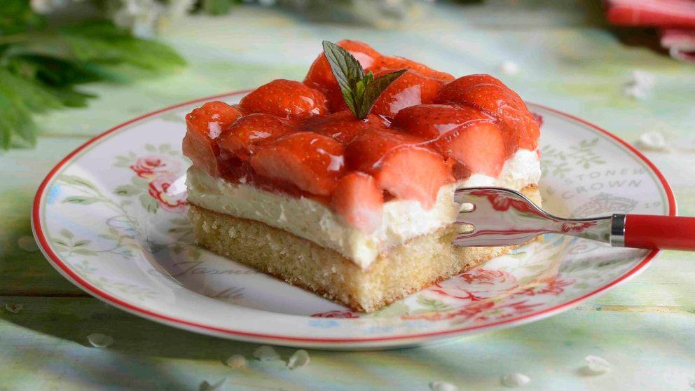 Erdbeer Schmand Kuchen Rezept Erdbeer Schmand Kuchen Kuchen Rezepte Erdbeertorte Rezept
