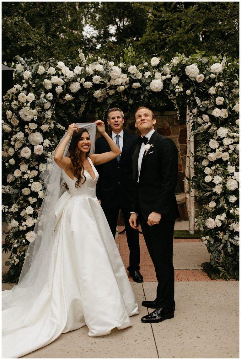 Classic Black Tie Summer Wedding At Arlington Hall Black Tie Wedding Black Tuxedo Wedding Black Tie Dress Wedding [ 1147 x 768 Pixel ]