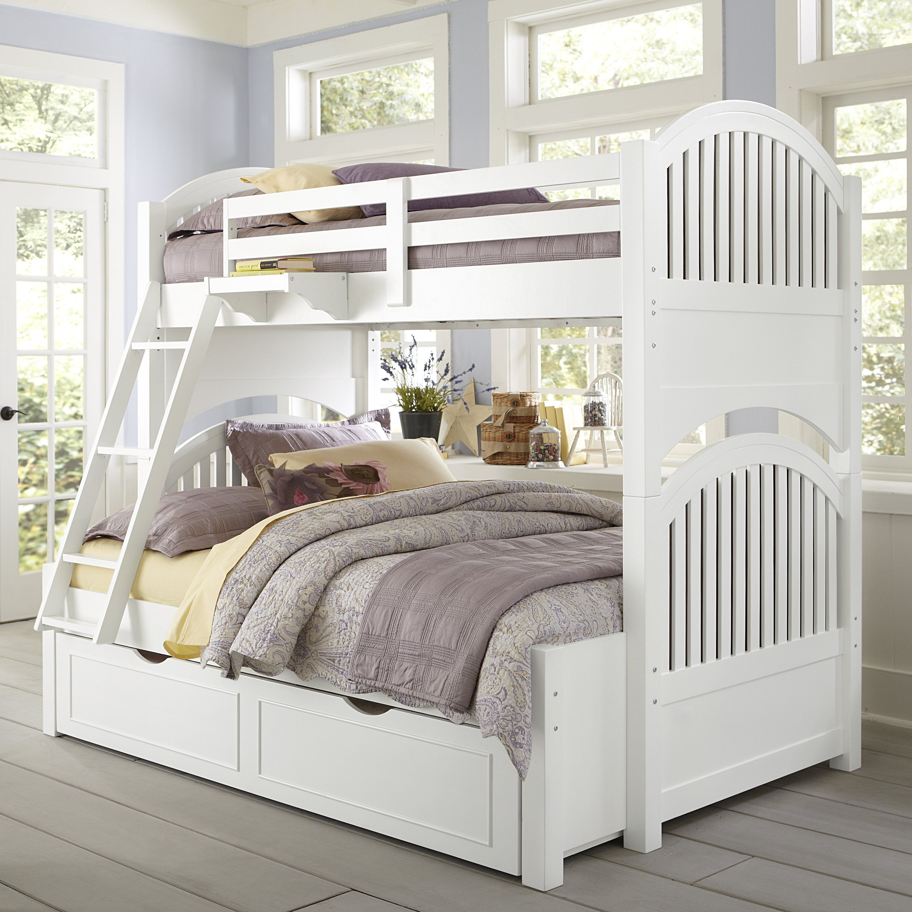Best Lake House Adrian Twin Over Full Bunk Bed Kids Trundle 400 x 300