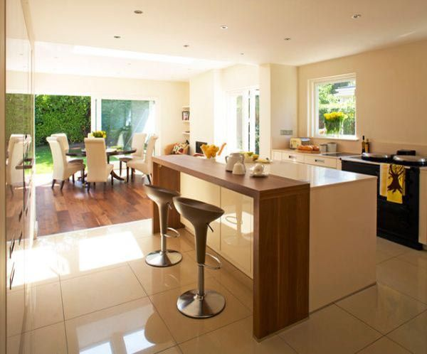 nice How To Make Kitchen Breakfast Bar With Contemporary Design