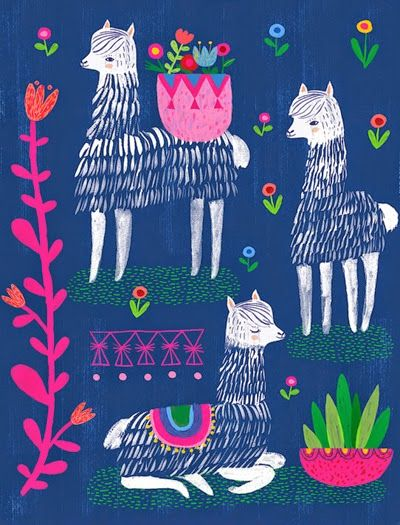 Happy Alpacas by Sarah and Colin Walsh at Petit Reve