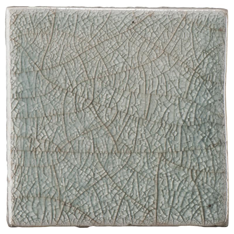 Ann Sacks Fire And Earth 4 X 4 Ceramic Field In 7 I R Cool Grey Crackle Art Deco Bathroom Tile Ann Sacks Tiles Powder Room Tile