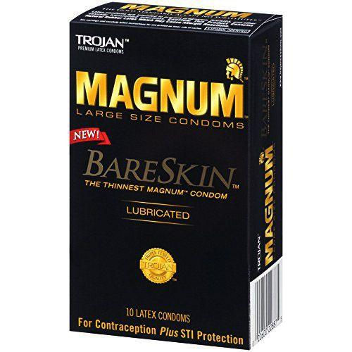 Trojan Magnum Bare Skin Lubricated Condoms 10 Pack Magnum Bareskin Condoms Trojan Condoms