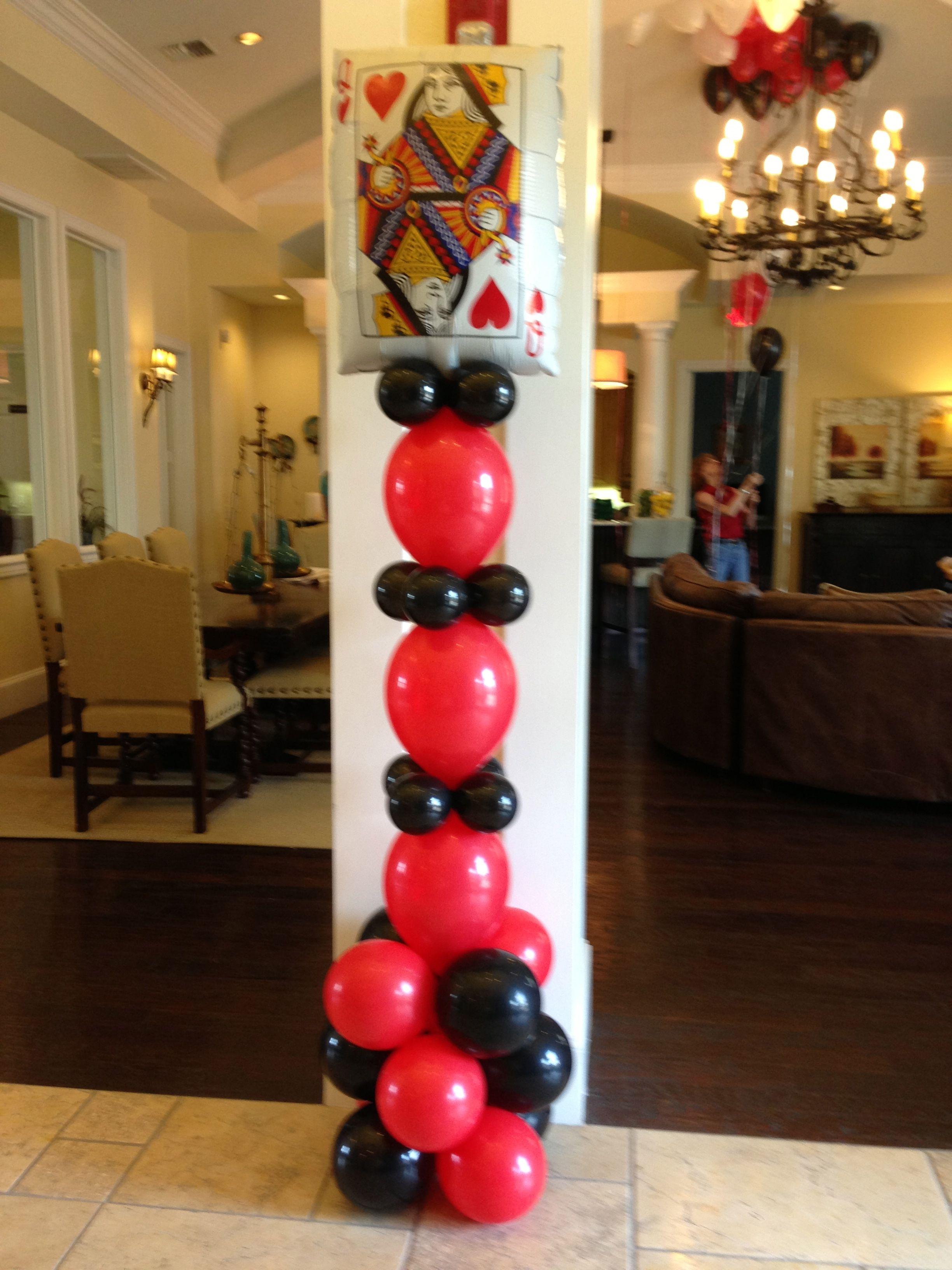 Playing card balloon column in 2019 Balloon columns