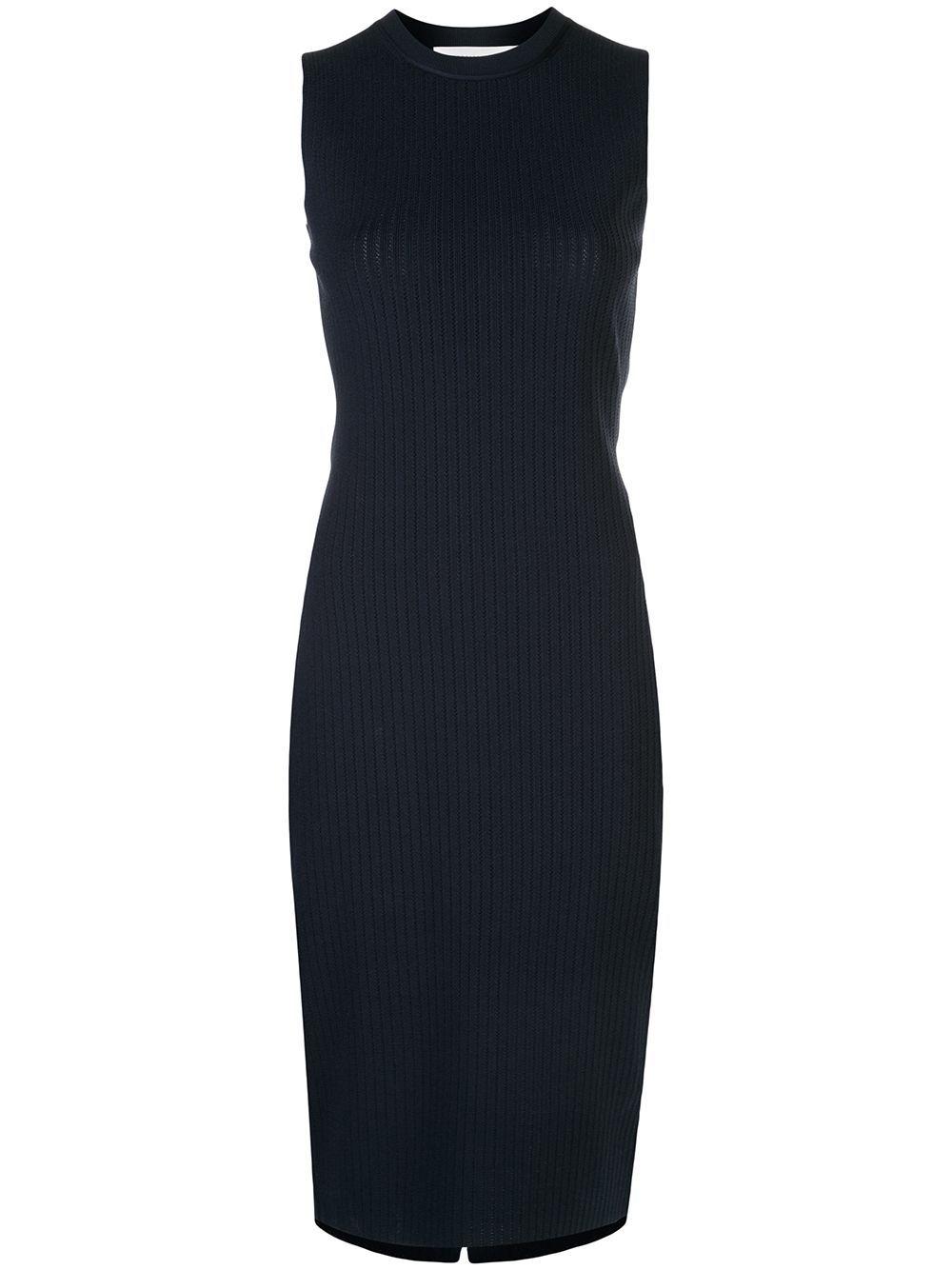 Victoria Beckham Knitted Ribbed Midi Dress Farfetch Ribbed Knit Dress Ribbed Midi Dress Knit Dress [ 1334 x 1000 Pixel ]