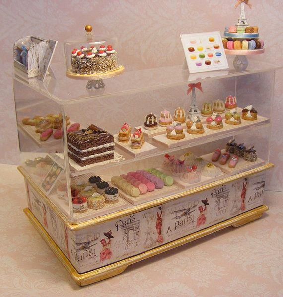 Photo of Items op Etsy die op 12th Scale Doll House Deluxe Patisserie Shop Counter lijken