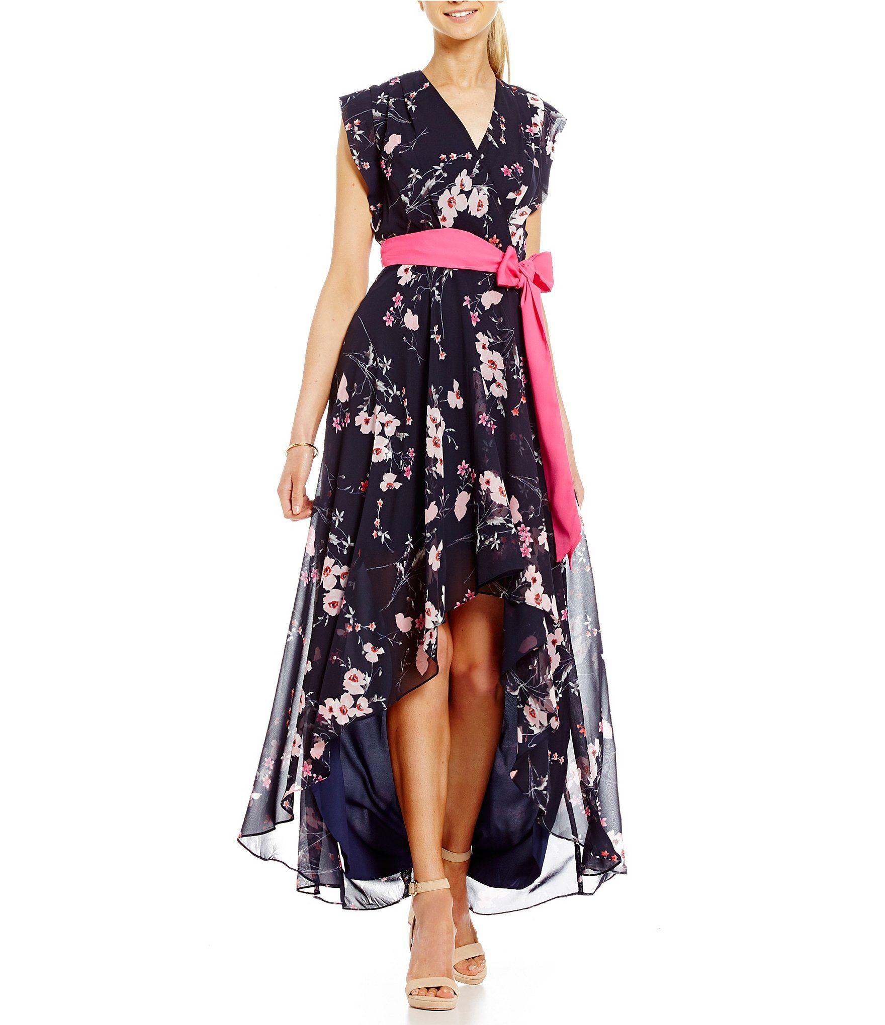 28137722f22 Eliza J Floral Printed Hi Lo Maxi Dress at Dillards.com. -OOS