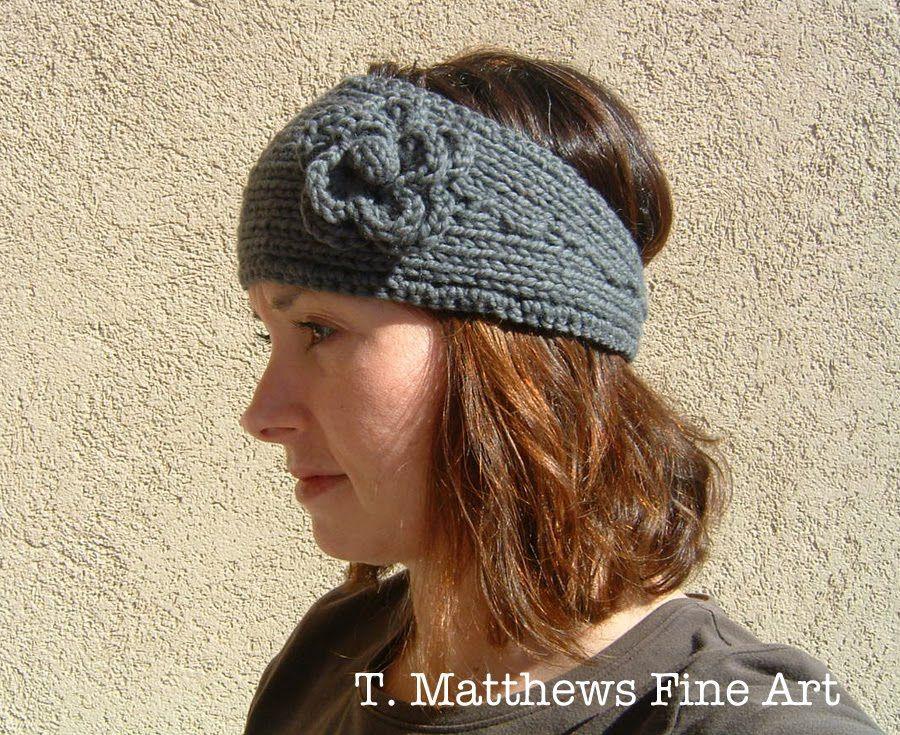 T. Matthews Fine Art: Free Knitting Pattern - Headband Ear Warmer ...