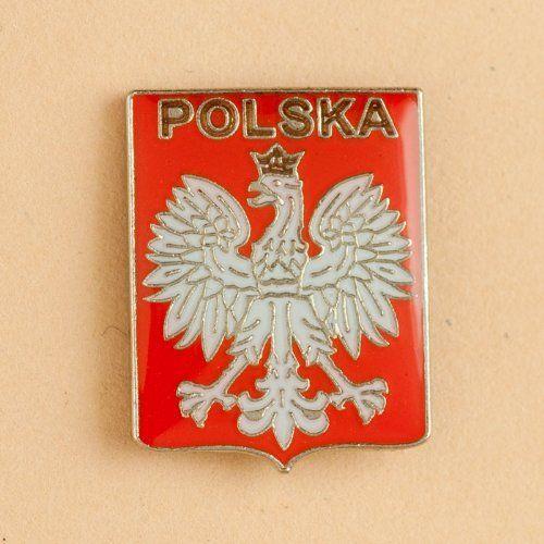 Lapel Pin - Poland Shield Crest by Polish Pins  $6 95