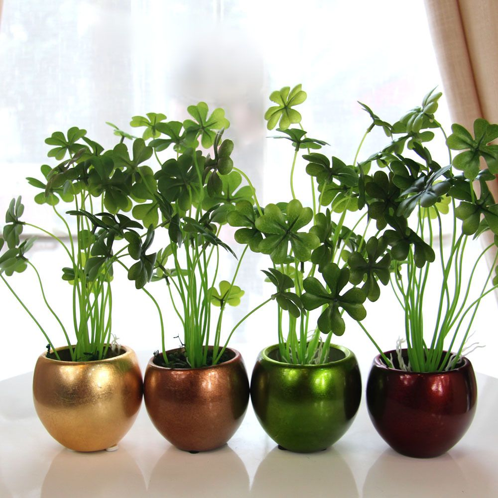 Inspirative Indoor Garden with Green Plant silk artificial flower ...