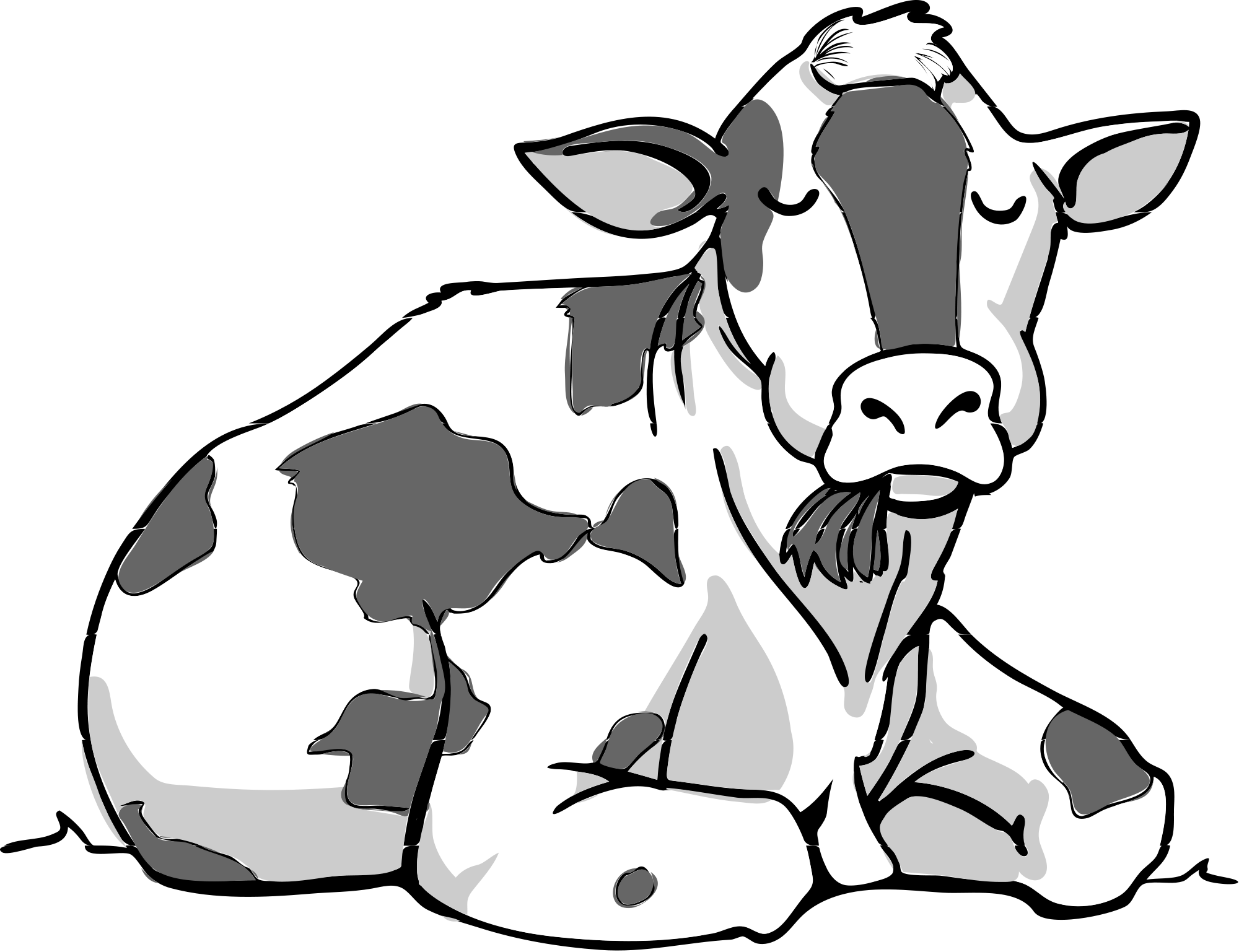 FileCow bw 06.svg Wikimedia Commons (With images) Cow