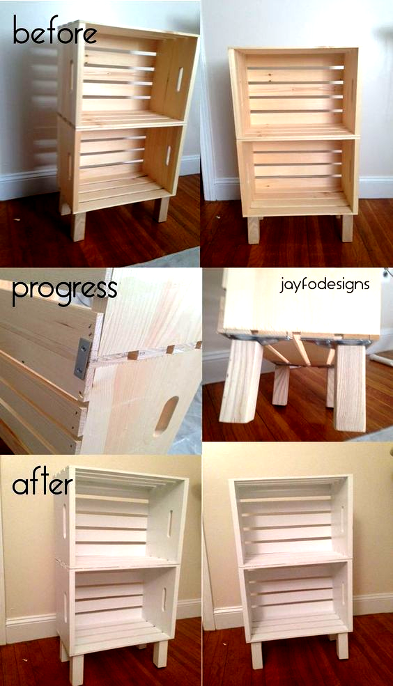 Crate End Table Diy Night Stands