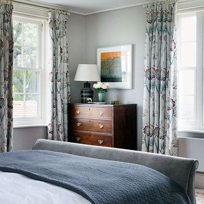Farmhouse Bedroom with Blue Scheme