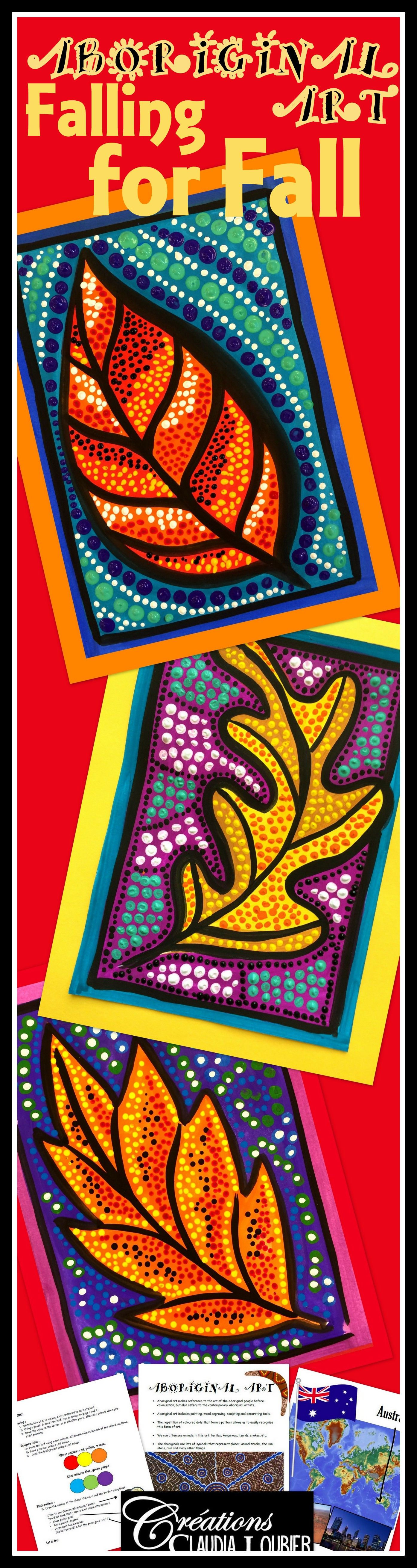 Fall Has Arrived Why Not Highlight It With An Aboriginal Art Project The Aboriginal