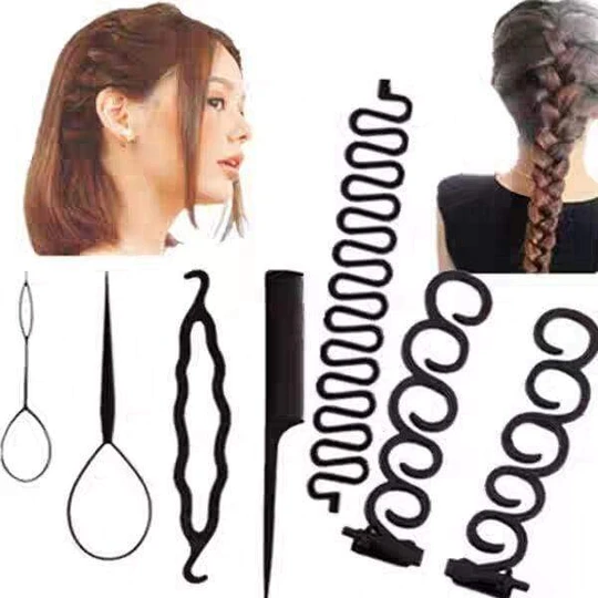 Hairdressing Tools Hair Styling Tool Kit Imodays In 2020 Twist Braid Hairstyles Stylish Hair Hair Braiding Tool