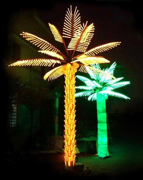 Custom Made Outdoor Led Lighted Palm Trees インテリア