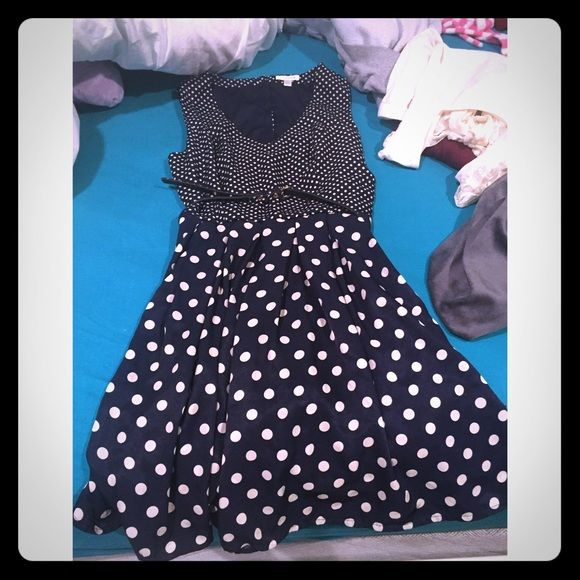 Charming Charlie's Polka dot dress Black and white. Never been worn! Charming Charlie Dresses Backless
