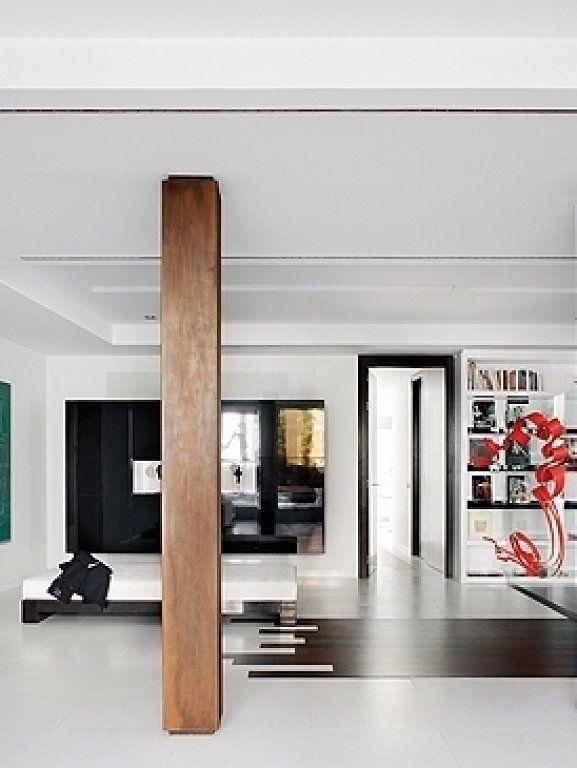 Elementos arquitectonicos vigas pilares columnas ideas - Decoracion columnas salon ...