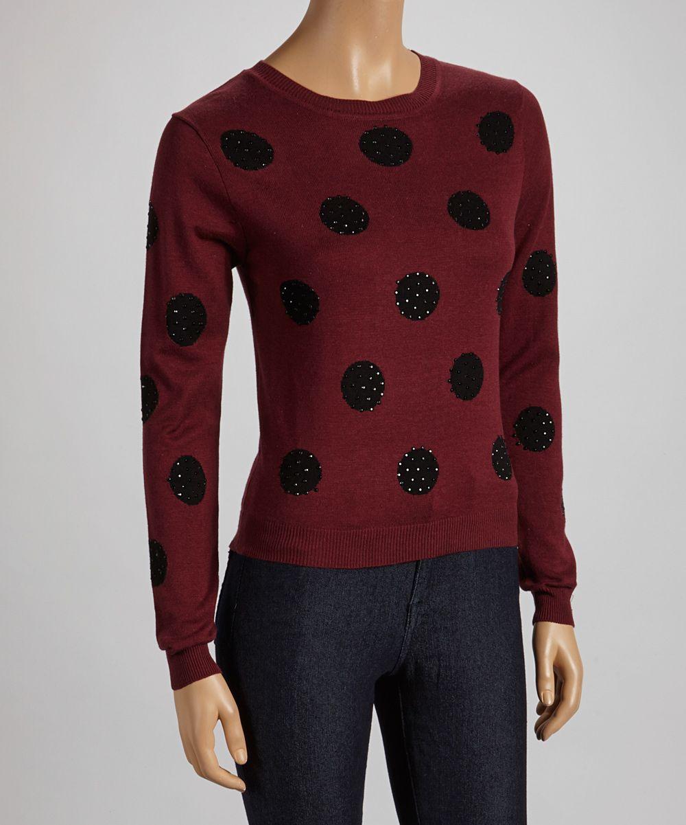 Polka dot sweater fall fashion pinterest polka dot sweater