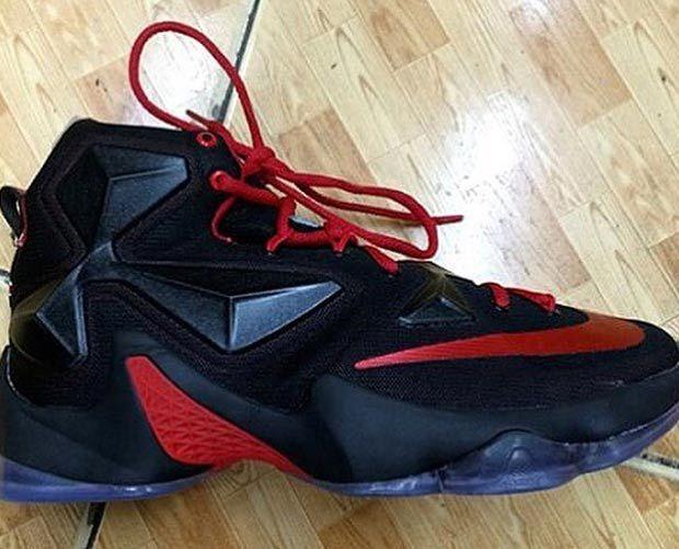 Nike LeBron 13 Away University Red White Black Laser Orange