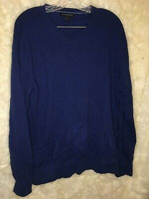 Banana Republic Mens Sweater L Large Merino Wool Navy Blue V Neck Pullover #fashion #clothing #shoes #accessories #men #mensclothing (ebay link)
