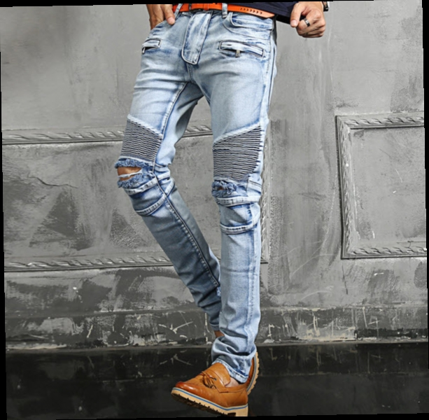 48.93$  Buy here - http://aligix.worldwells.pw/go.php?t=32401768108 - #1406 Large size Ripped jeans for men Fashion Casual Biker denim jeans Hip hop Denim moto jeans Homme High quality brand  48.93$