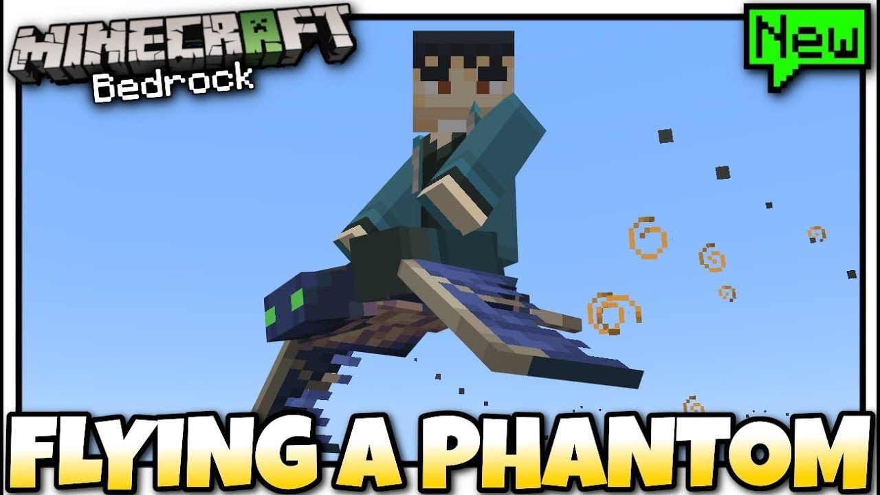Minecraft - RIDING ON A PHANTOM [ #EPIC ] MCPE / Xbox