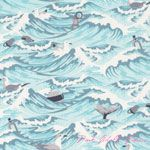 Tula Pink Salt Water Sea Debris Aqua [FS-TP033-Aqua] - $10.45 : Pink Chalk Fabrics is your online source for modern quilting cottons and sewing patterns., Cloth, Pattern + Tool for Modern Sewists