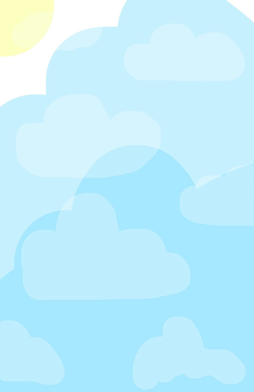 Cute Clouds Find More Kawaii Iphone Android Wallpapers And Backgrounds At Prettywallpaper Imprimir Sobres Bordes Fondos